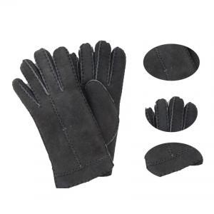 Best Lady fashion lamb fur double face leather winter gloves wholesale