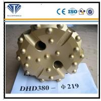 Gold concave spherical  8 inch DTH drilling  tools of  DHD380  drill bit 219 mm