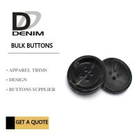 Buy cheap Bulk Flat Black Sewing Buttons • 4 holes • Plaid blazer • Clothing Accessories from wholesalers