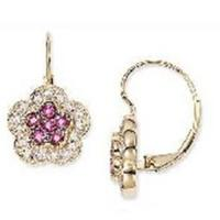 Best Earring(Pink Ruby and Diamond 14K Gold Earrings-EVIE0176) wholesale