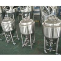 Cheap 50L Homebrew Brewing System , Brewhouse Beer Brewing Equipment Fermentation Tank for sale