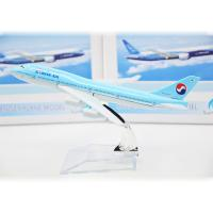 Best Customize Azure Aircraft Model Kits Korean Air B747 150*150*100MM wholesale