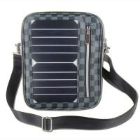 Best 5W Water Resistan Solar Charging Backpack With Solar Panel Black Color wholesale