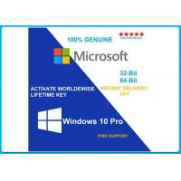 Buy cheap Microsoft Windows 10 Pro Software 64 bit DVD OEM License OEM key/English/french/Russia/Spanish lifetime activation from wholesalers