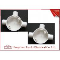 Cheap Three Way Round PVC Electrical Conduit Junction Box BS4568 Custom Made for sale