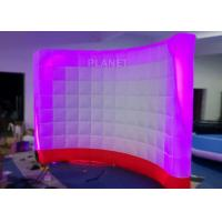 Best 3 Meter Led Inflatable Wall 210 D Reinforce Oxford Material Logo Printing wholesale