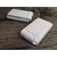 Best Square White 6600mah Portable USB Power Bank For Mobile Charging With LED wholesale