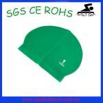 Best water sports triathlon rubber silicone zips latex swim caps wholesale