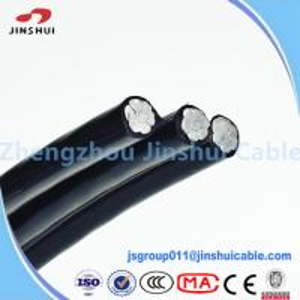Cheap Aluminum Conductor Steel Reinforced Quadruplex Service Drop Cable Costena for sale