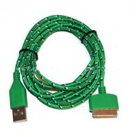 Best Durable 30 Pin To USB Micro Usb Sync Cable 3ft Covered With Green Nylon wholesale