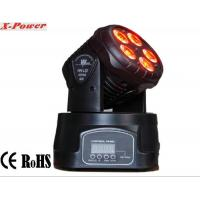Best Professional Dj Lighting Equipment , 5*15W RGBWA LED Mini Moving Head Wash Light   X-12 wholesale