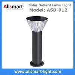 Best 60cm/24inch Solar Bollard Lawn Lights Solar Yard Light Cement Bollard Solar Pathway Lamp Aluminum Black for Landscape wholesale