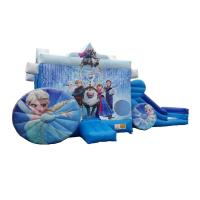 Best Children Commercial Bouncy Castles hinchables castillos Inflatable Princess Frozen Carriage Bounce N Slide wholesale