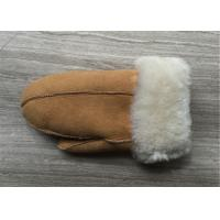 Best Hand Made Warmest Sheepskin Gloves for Ladies With Cuff Size 5 - 6cm wholesale