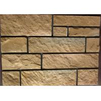 Best Rectangle Exterior Faux Stone , Stone Siding Panels For Homes wholesale