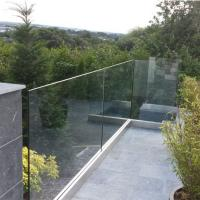 Cheap Exterior Frameless Glass Deck Railing with Aluminum U Channel Profile / U for sale