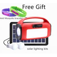 Cheap 6V Solar Power kits with music Player, LED Torch, BlueTooth Speaker, FM solar panel kits system for sale