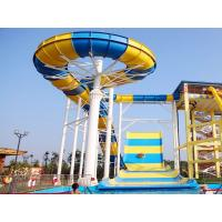 Best Outdoor water park equipment giant boomerang water slide fiberglass material for family wholesale