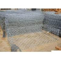 Cheap Durable Gulafan Coated Gabion Wire Mesh , Rock Cages For Retaining Walls for sale