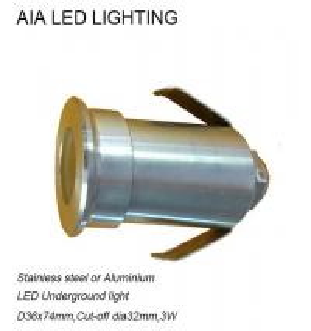 Best Waterproof IP67 Stainless stell waterproof outside 3W LED inground light wholesale