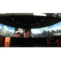 China Large Tripod Motorized Curved Projection Screen Home Movie Theater Projectors on sale