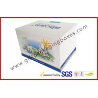 Cheap Fashion Coated Paper Board Box, Rectangle Printed Rigid Gift Boxes For With Custom Logo for sale