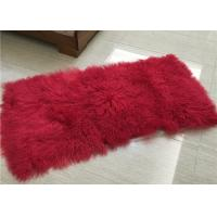 Best Long Hair Curly Sheep Fur throw Mongolian Tibetan Lambswool Blanket bed throw wholesale