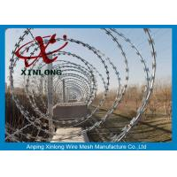 Best Modern Security Barbed Wire Fence , Stainless Steel Razor Wire wholesale