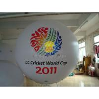 Best 2.5m White advertising helium balloons with 2 sides digital printing for Sporting events wholesale