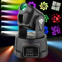 Best Stage Lighting , 15w Mini Gobo Led Moving Head Spot Light With DMX512 wholesale
