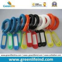 Plastic Elastic Band Cord Coil Tether W/Name Tag