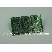 Best 6 Layer Green Printed Circuit Board FR4 with V Groove White Silkscreen wholesale