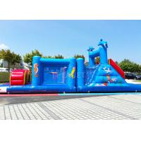Best 14 M Long Inflatable Tunnel Outdoor Obstacle Course Equipment Electric Blower wholesale