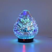 Best 3D Color Glass Electronic Aroma Diffuser Essential Oil Aromatherapy Humidifier Aromatherapy Sprayer wholesale