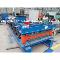 Quality HIgh Speed Roof Tile / Roofing Sheet Roll Forming Machine With PLC Control System wholesale