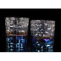 Best Dimpled Nail Embossed Glass Tea Candle Holders Glass Dome Candle Holder wholesale