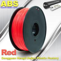 Best 1.75mm /  3.0mm ABS 3d Printer Filament Red With Good Elasticity wholesale