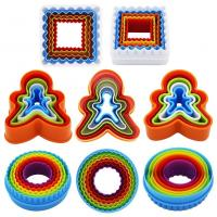 Best Custom 3D Bakeware Cookie Tools Set Colorful Plastic Round Cookie Cutter wholesale