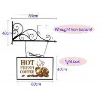 Best Hanging Sign Bracket Vacuum Forming Light Box Vintage Style With Double Sides Display wholesale