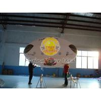 Best 3.5*2m Reusable Inflatable Advertising Oval Balloon,0.18mm helium quality PVC with Two side printing for opening events wholesale