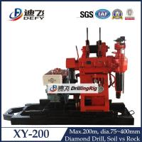 Buy cheap XY-200 drilling machine High efficiency core sampling drilling rig for sale from wholesalers