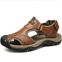 Buy cheap Large Size Summer Genuine leather sandals mens 2017 new arrival from wholesalers