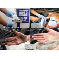 Best ISO White Viscose+pet,Microfiber,Woodpulp Oil Absorbent Industrial Use Spunlace Nonwoven Wipes wholesale