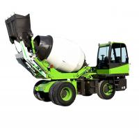 China Multifunctional 3.5 M3 Self Loading Concrete Mixer Vehicle / Cement Mixer Truck on sale