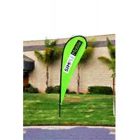 Best Custom Teardrop Banners Advertising , Tear Drop Banners High Strength Fiberglass Pole wholesale