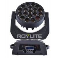 Best 19 x 12w Multi RGBW 4 in 1 Led Moving Head Wash Bright Beam Big Lens Angle 8° wholesale