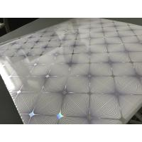 Cheap Easy Install / Clean PVC Ceiling Boards 7mm Thickness Shining Purple Design for sale