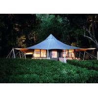 Best Durable Design Bell Tent Glamping , 100% Waterproof Hotel Tents For Sale wholesale