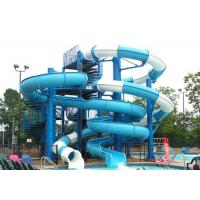 Best Aqua Play Fiberglass Water Slide , Combination Commercial Pool Water Slides wholesale