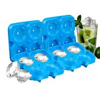 Best Diamond Ice Cubes BPA Free Easy Release Silicone Ice Cube Maker for Cocktail, Whisky, Bourbon wholesale